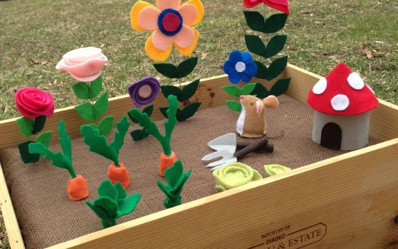 How To Make a Felt Toy Garden